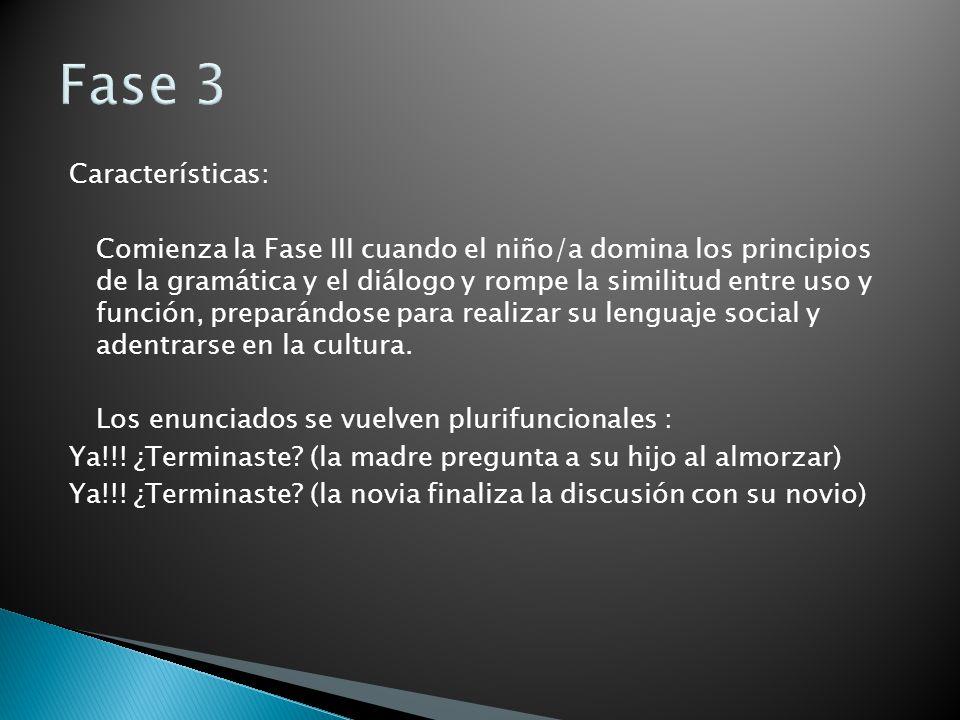 Fase 3 Características: