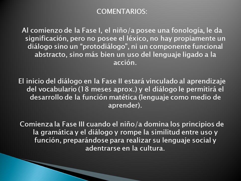 COMENTARIOS: