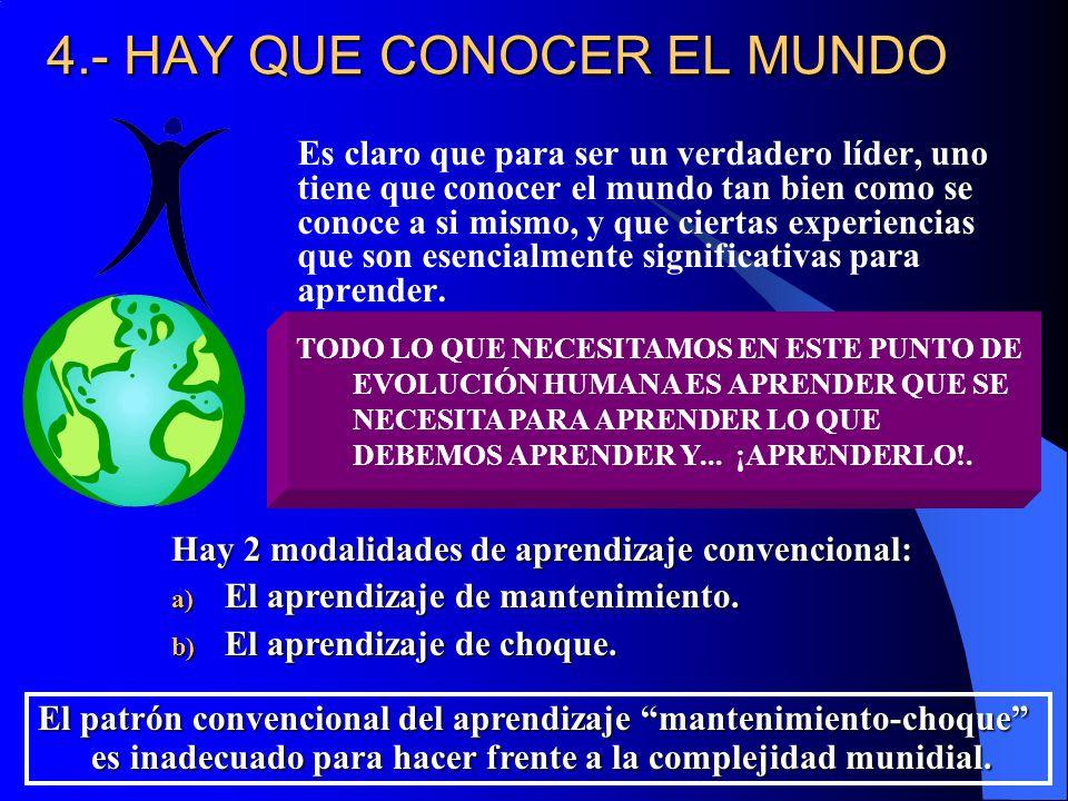 4.- HAY QUE CONOCER EL MUNDO