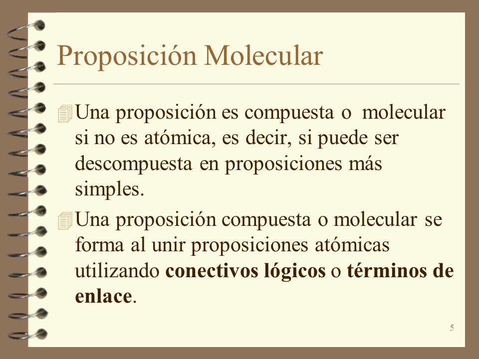 Proposición Molecular