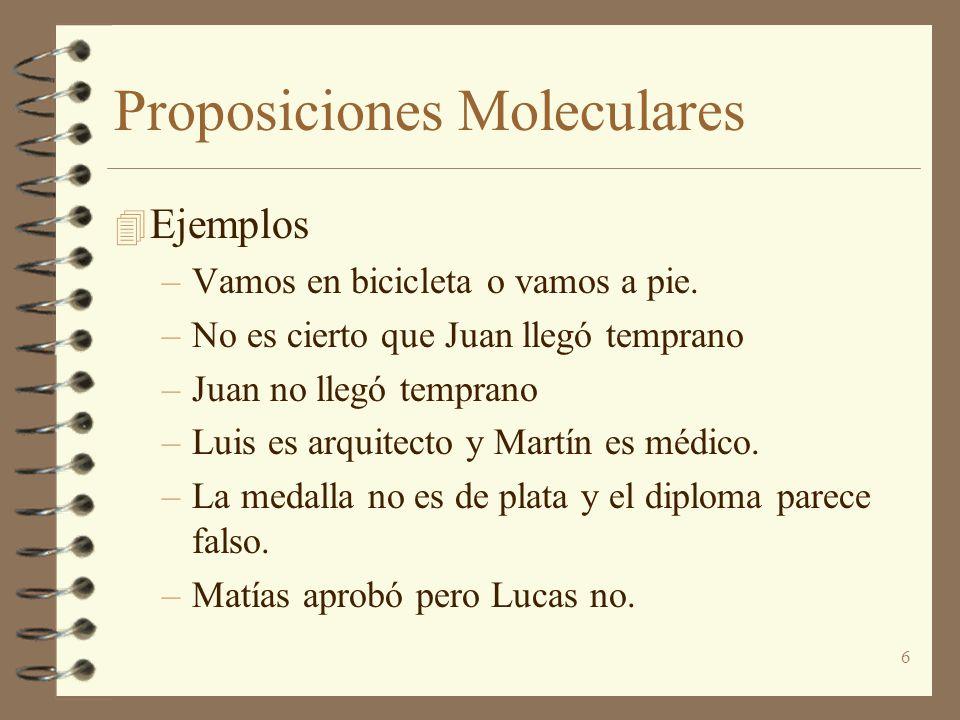 Proposiciones Moleculares