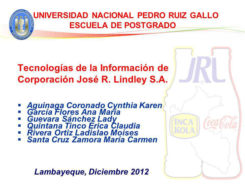 UNIVERSIDAD NACIONAL PEDRO RUIZ GALLO ESCUELA DE POSTGRADO