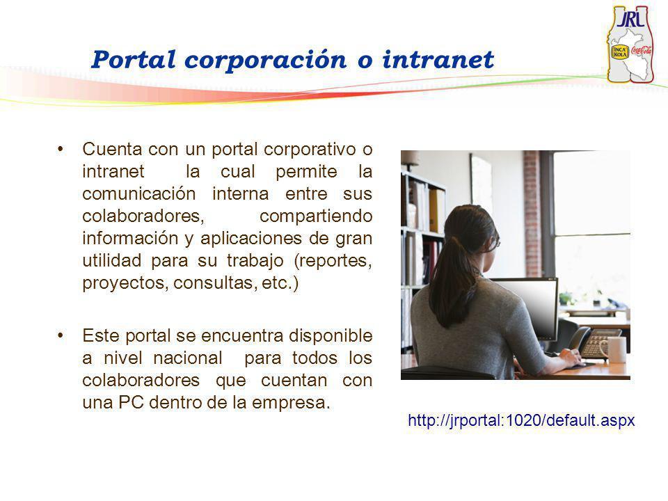 Portal corporación o intranet