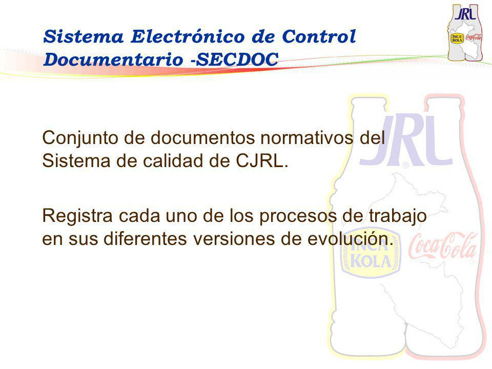 Sistema Electrónico de Control Documentario -SECDOC