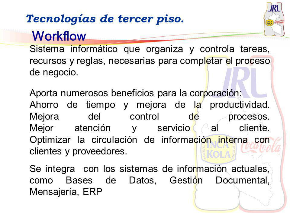 Workflow Tecnologías de tercer piso.