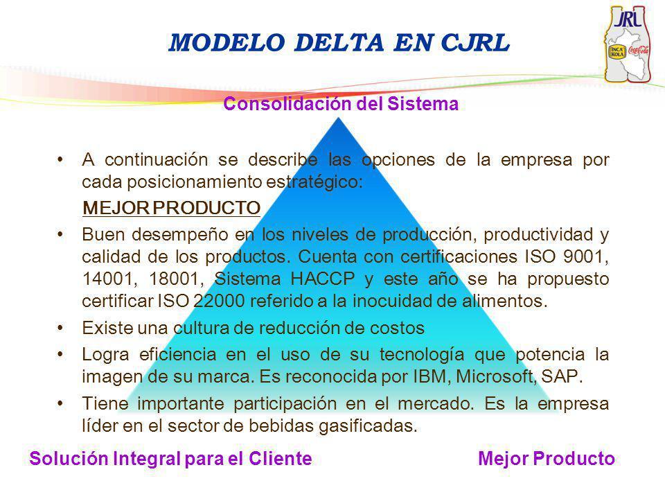 MODELO DELTA EN CJRL Consolidación del Sistema