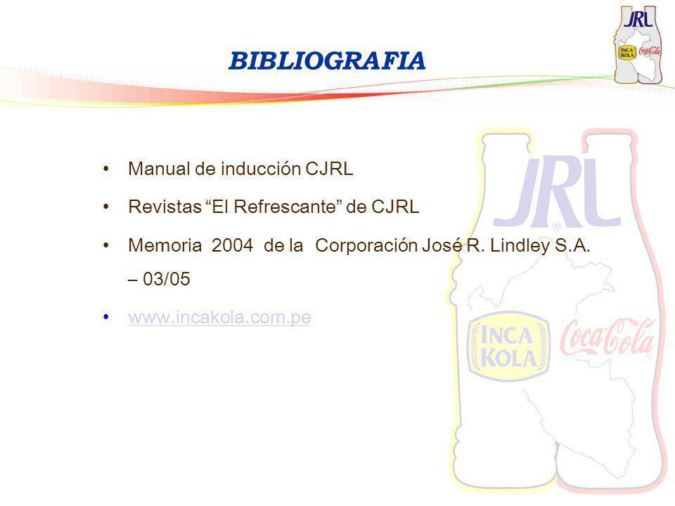 BIBLIOGRAFIA Manual de inducción CJRL