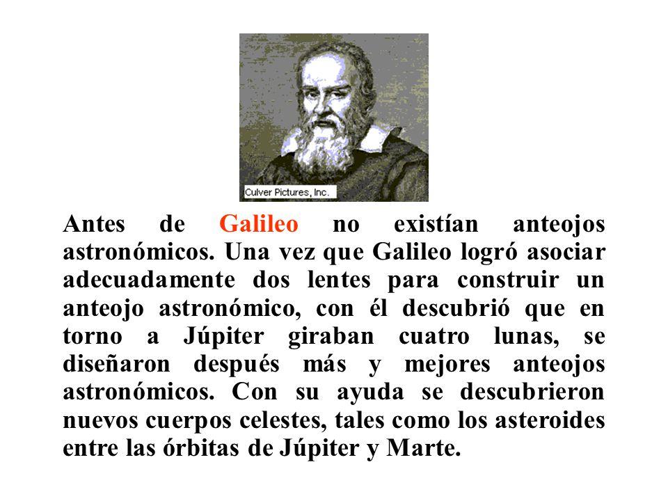 Antes de Galileo no existían anteojos astronómicos