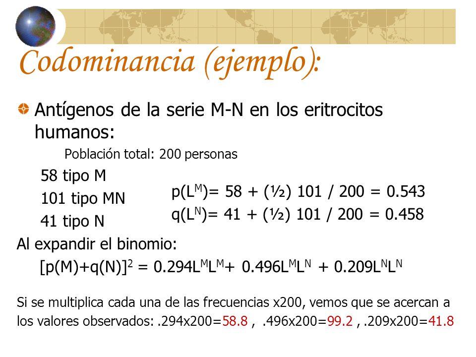 Codominancia (ejemplo):