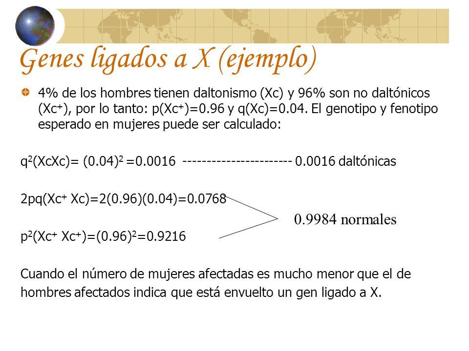 Genes ligados a X (ejemplo)