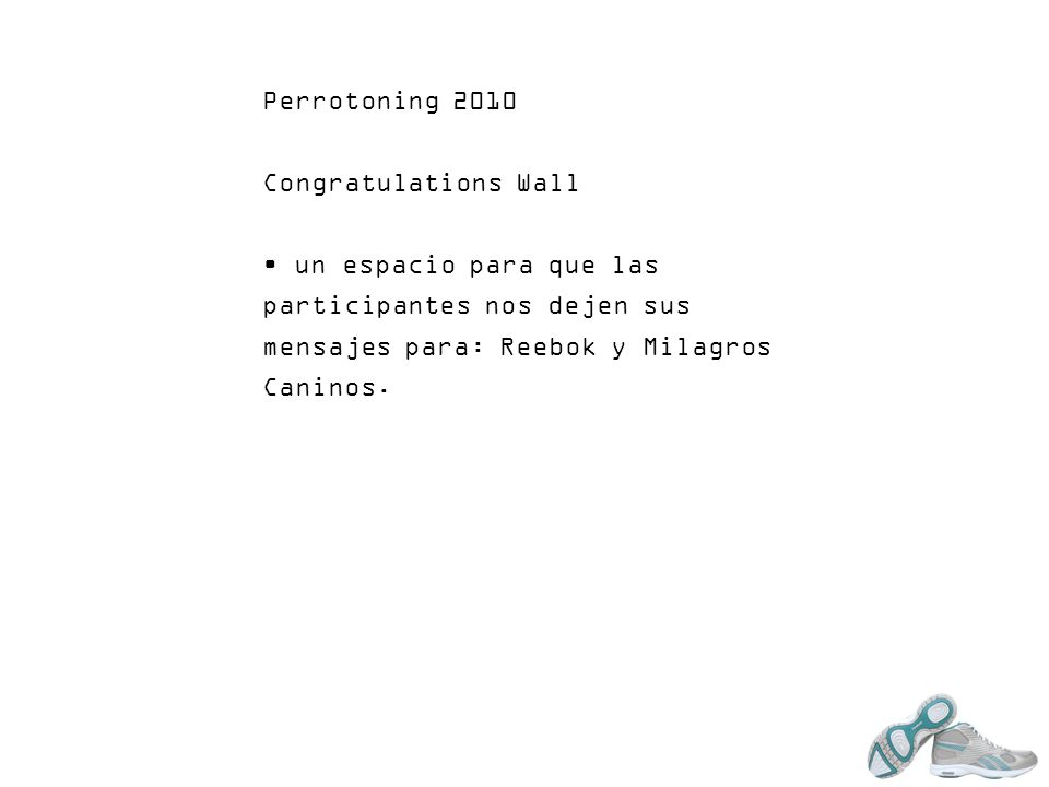 Perrotoning 2010 Congratulations Wall.