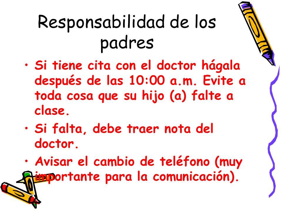 Responsabilidad de los padres