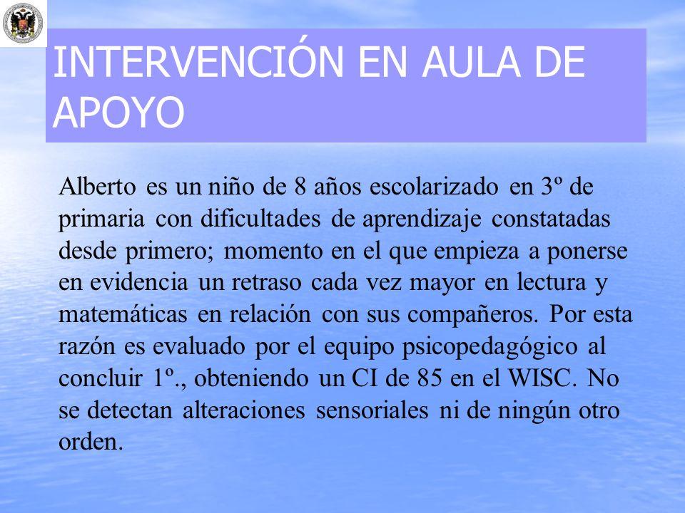 INTERVENCIÓN EN AULA DE APOYO