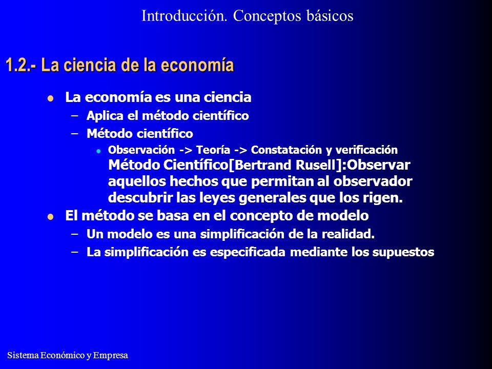 1.2.- La ciencia de la economía