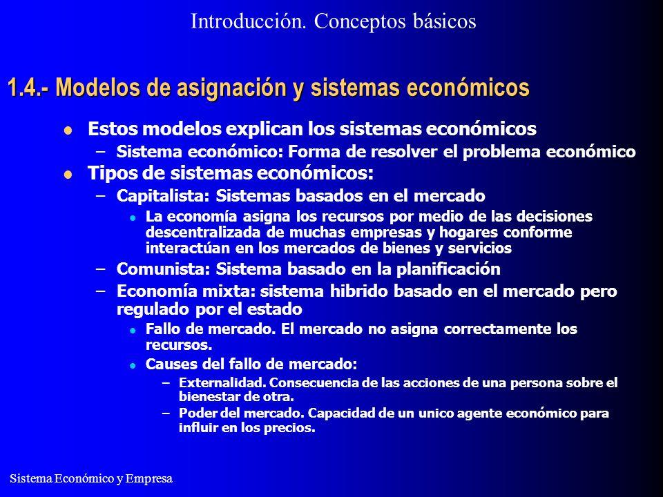 1.4.- Modelos de asignación y sistemas económicos