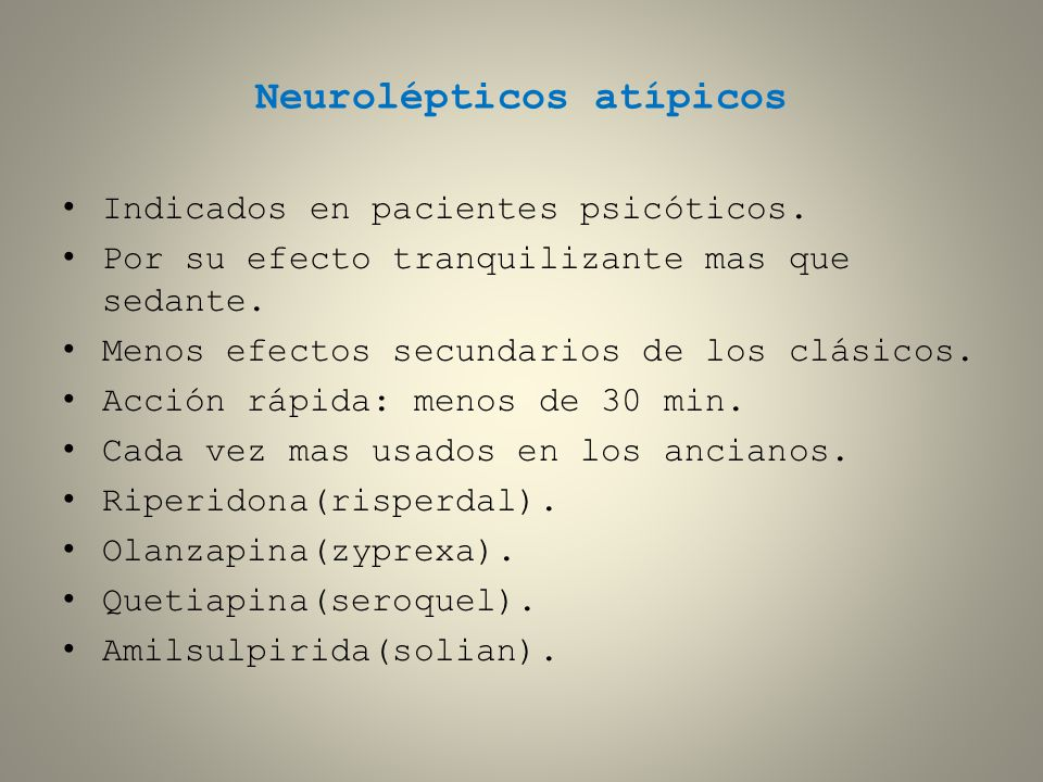Neurolépticos atípicos