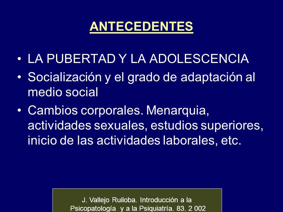 LA PUBERTAD Y LA ADOLESCENCIA