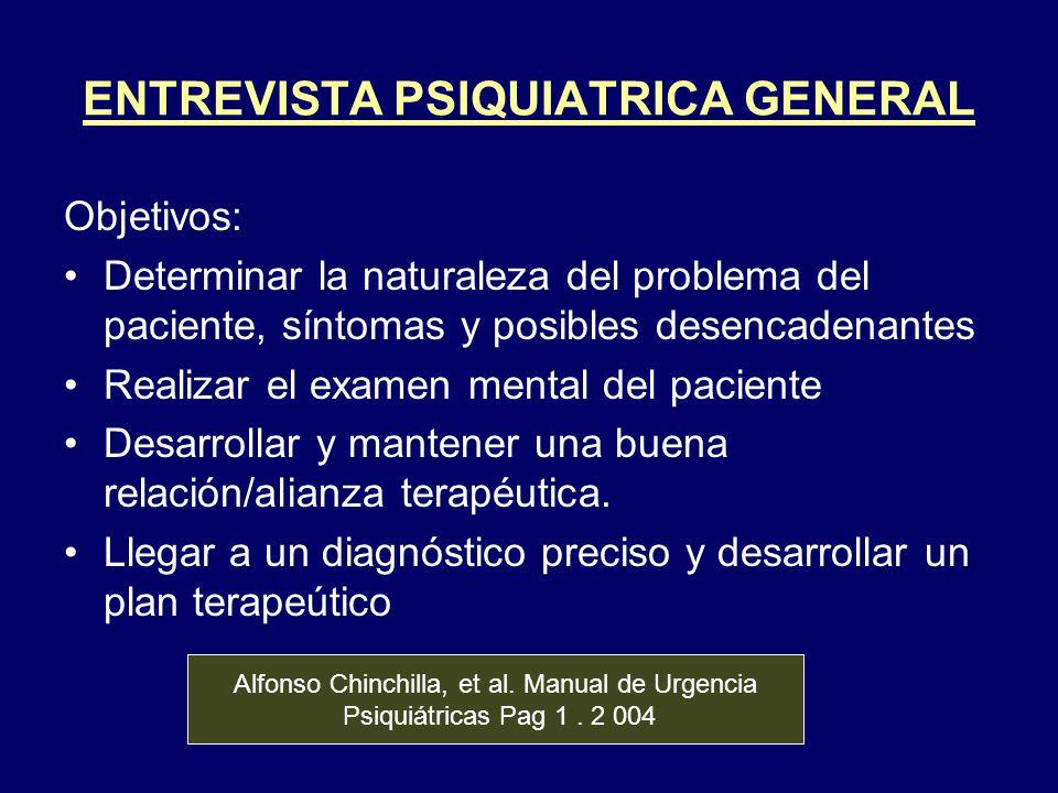 ENTREVISTA PSIQUIATRICA GENERAL