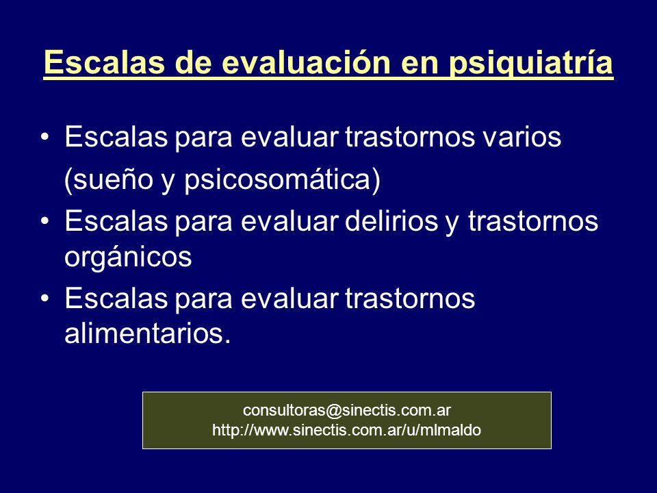 Escalas de evaluación en psiquiatría