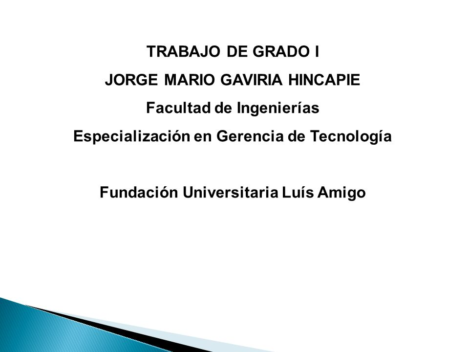 JORGE MARIO GAVIRIA HINCAPIE Facultad de Ingenierías