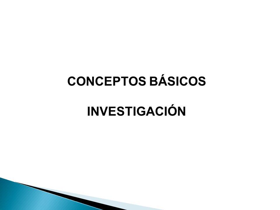 CONCEPTOS BÁSICOS INVESTIGACIÓN