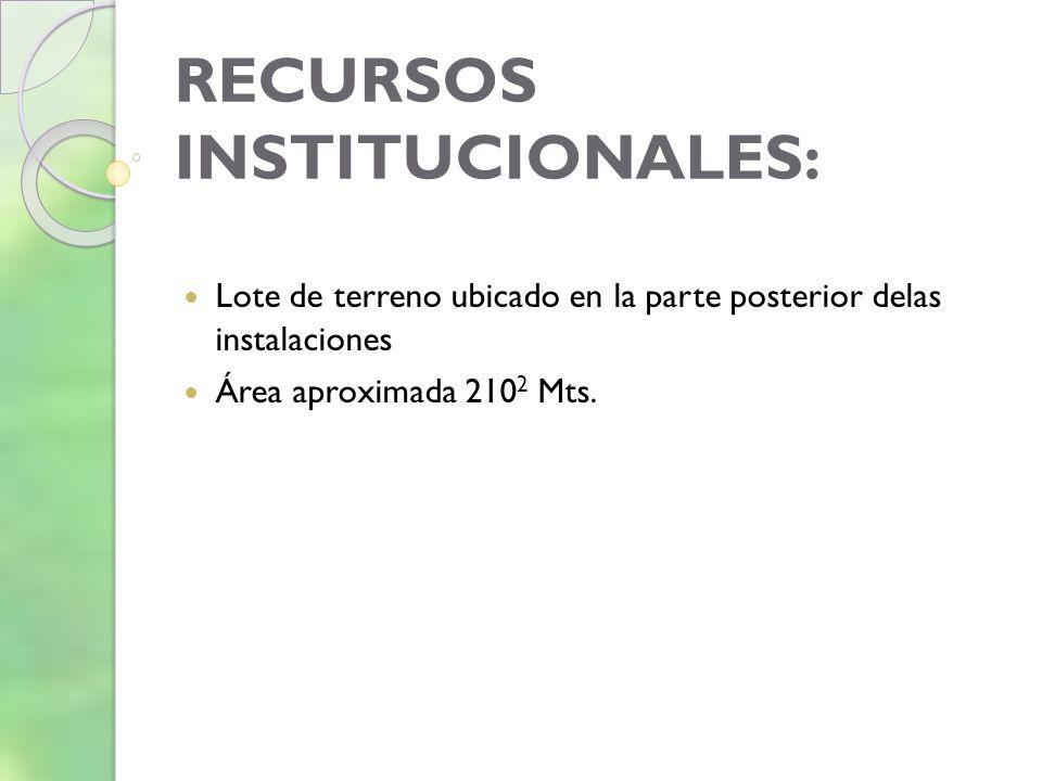 RECURSOS INSTITUCIONALES: