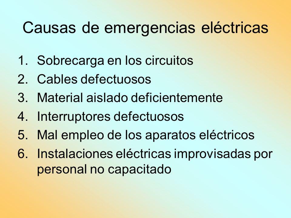 Causas de emergencias eléctricas