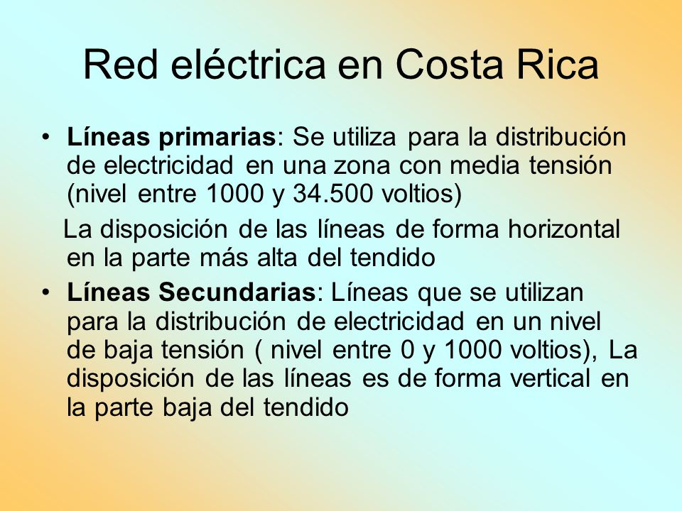 Red eléctrica en Costa Rica