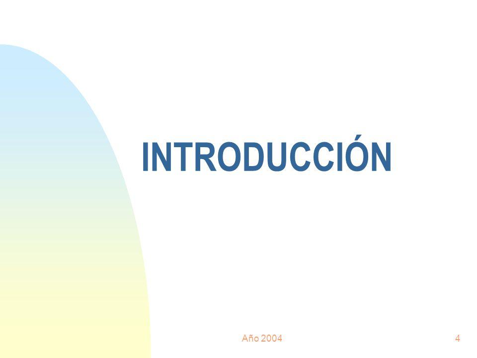 01/04/2017 INTRODUCCIÓN Año 2004