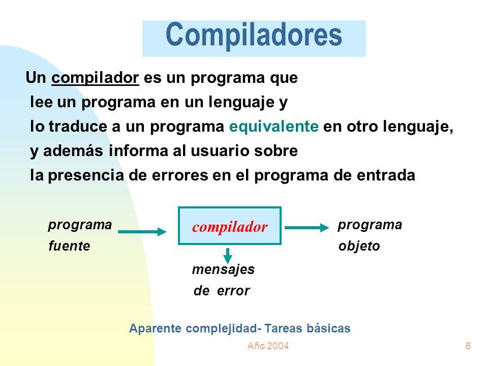 Aparente complejidad- Tareas básicas