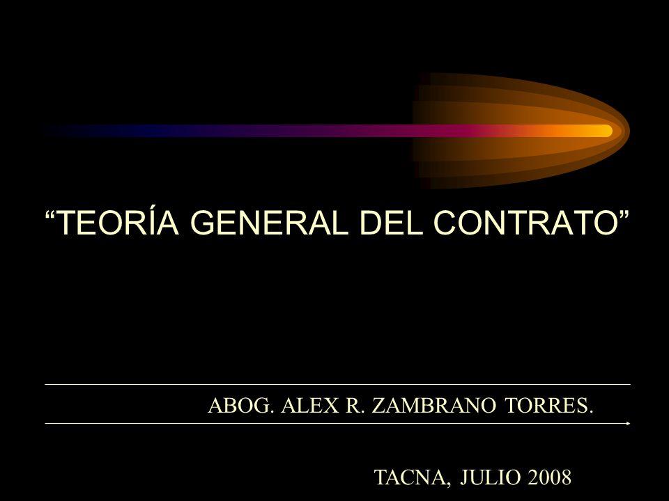 TEORÍA GENERAL DEL CONTRATO