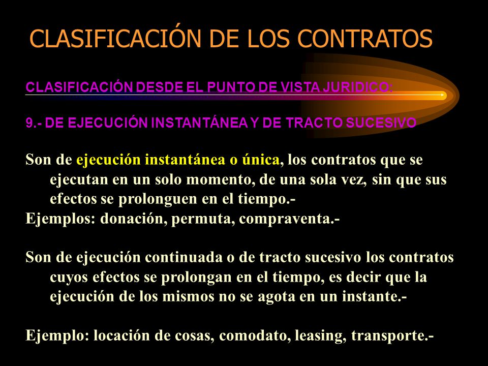 CLASIFICACIÓN DE LOS CONTRATOS