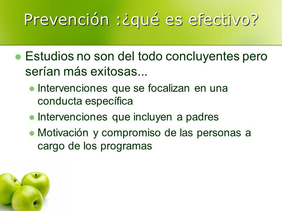 Prevención :¿qué es efectivo