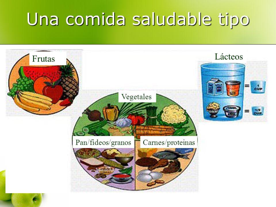 Una comida saludable tipo