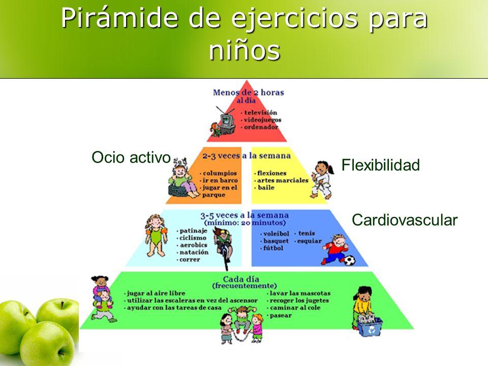 Pirámide de ejercicios para niños