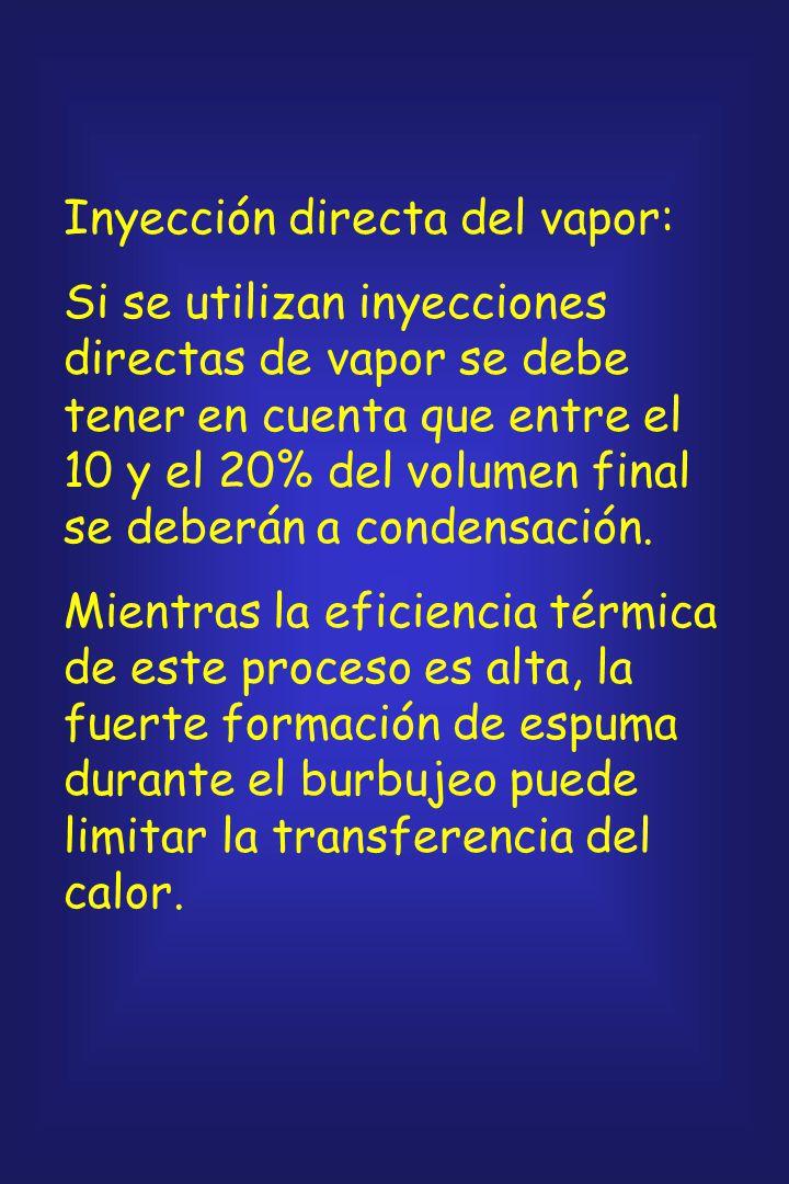 Inyección directa del vapor: