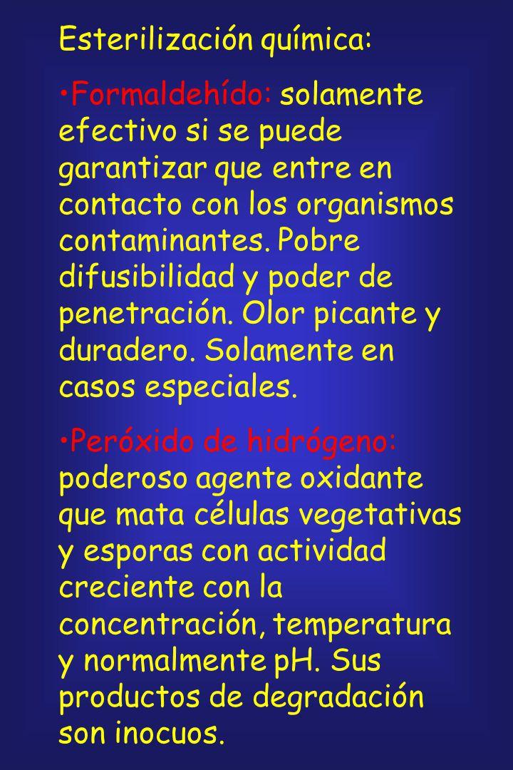 Esterilización química: