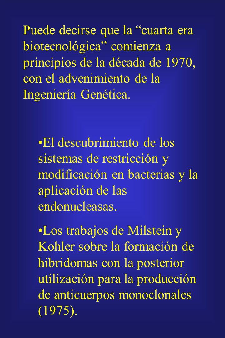 Puede decirse que la cuarta era biotecnológica comienza a principios de la década de 1970, con el advenimiento de la Ingeniería Genética.