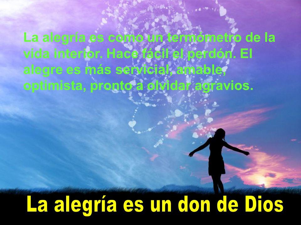 La alegría es un don de Dios
