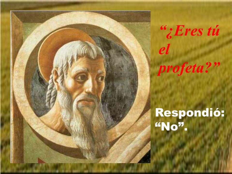 ¿Eres tú el profeta Respondió: No .