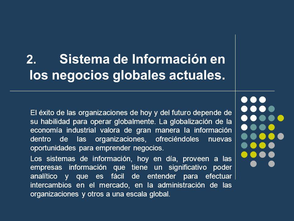2. Sistema de Información en los negocios globales actuales.