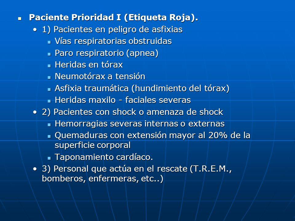 Paciente Prioridad I (Etiqueta Roja).