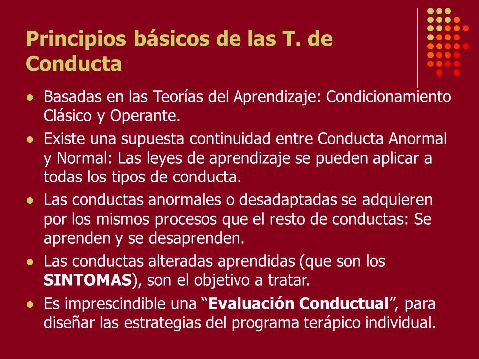 Principios básicos de las T. de Conducta