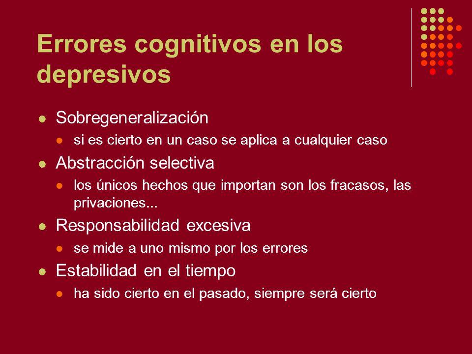 Errores cognitivos en los depresivos