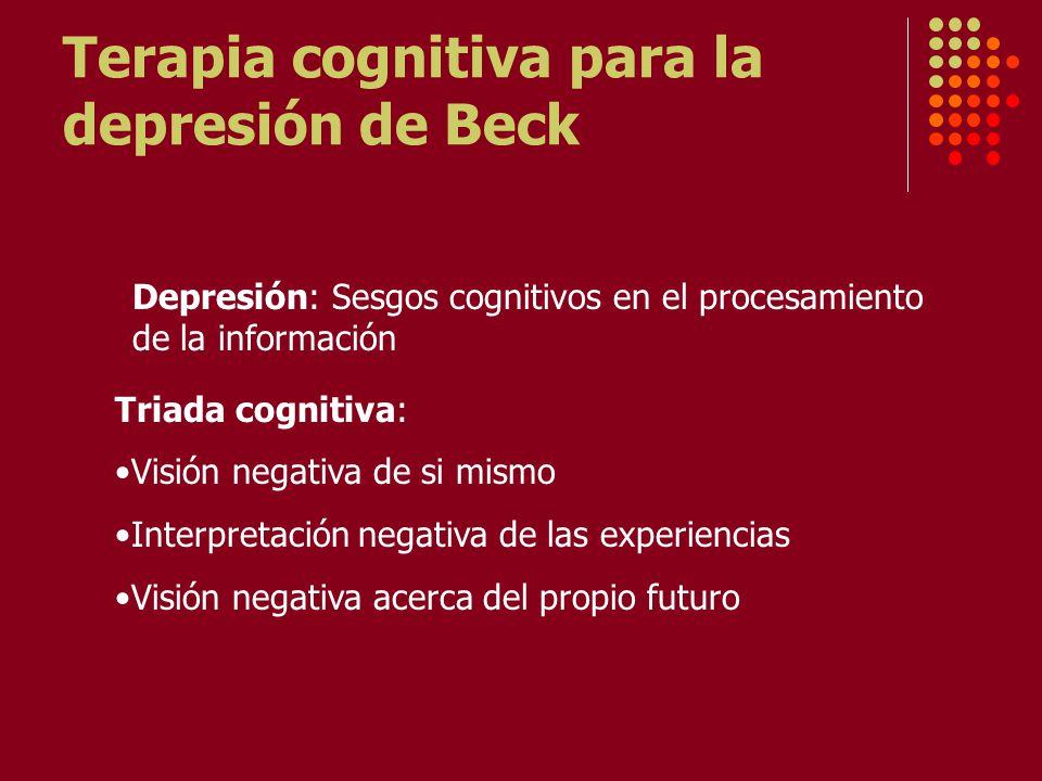 Terapia cognitiva para la depresión de Beck