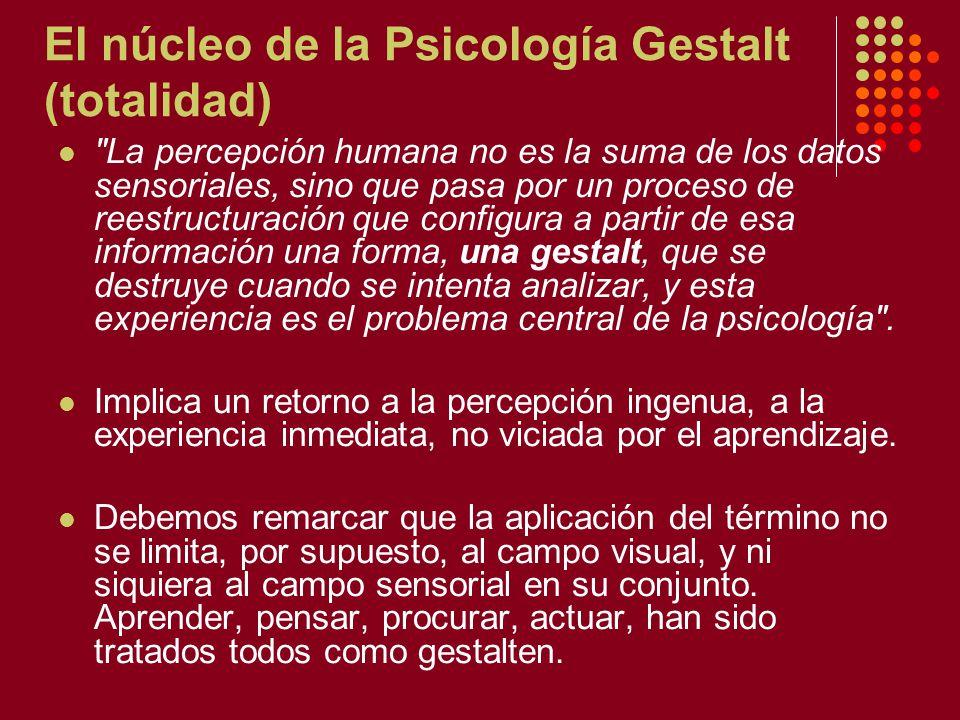 El núcleo de la Psicología Gestalt (totalidad)