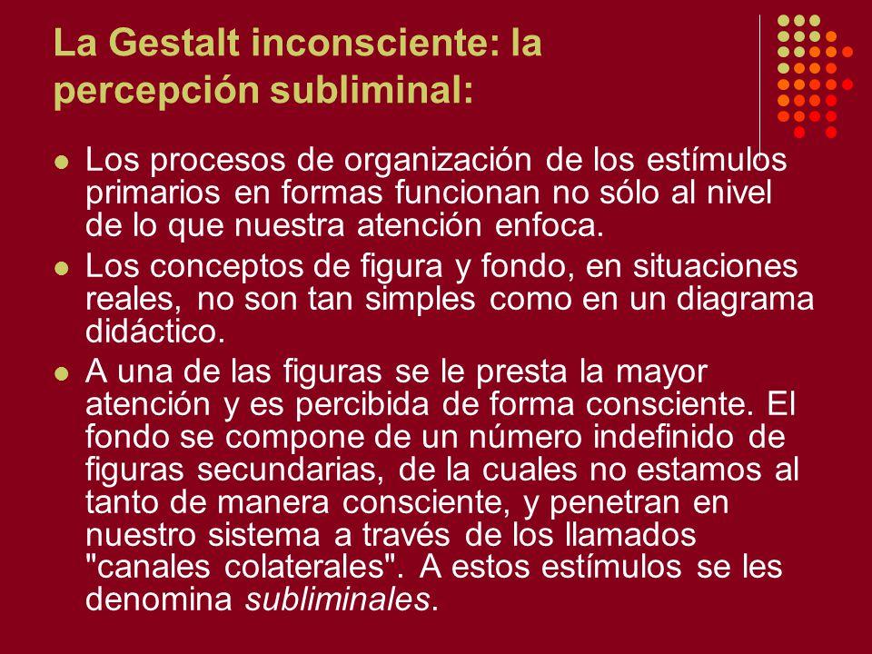 La Gestalt inconsciente: la percepción subliminal: