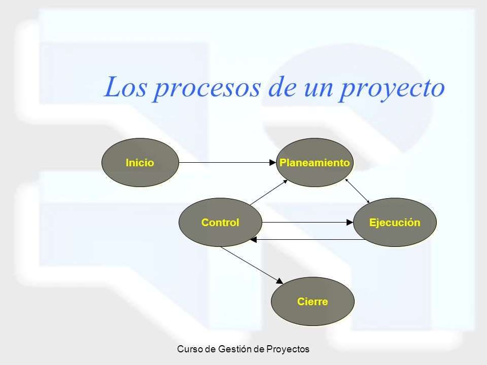 Los procesos de un proyecto
