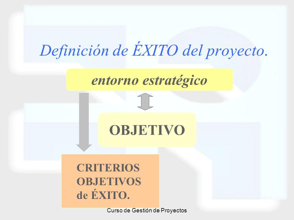 Definición de ÉXITO del proyecto.
