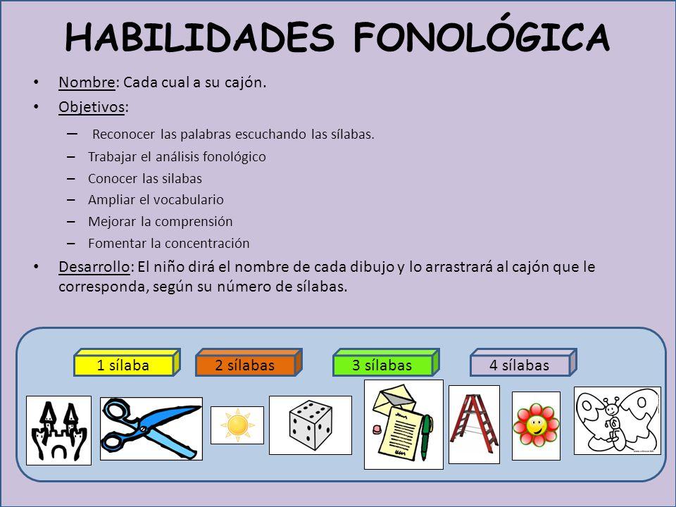 HABILIDADES FONOLÓGICA